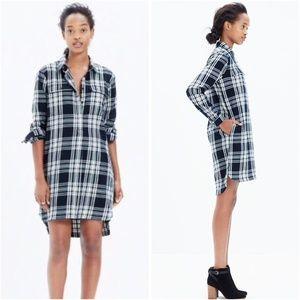 Madewell Black Flannel Daywalker Shirt Dress S
